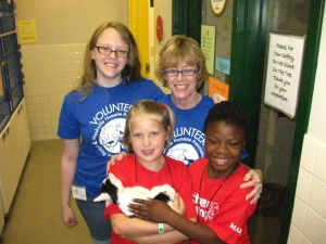 Betsy Warren and Emily Warren pose with Critter Campers.
