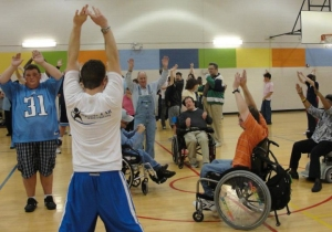 The aerobics class at Project Health brings over 30 participants a week.