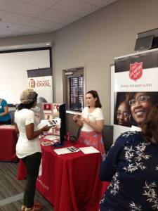 The Salvation Army was just one of many nonprofits at the Tutor Fair.