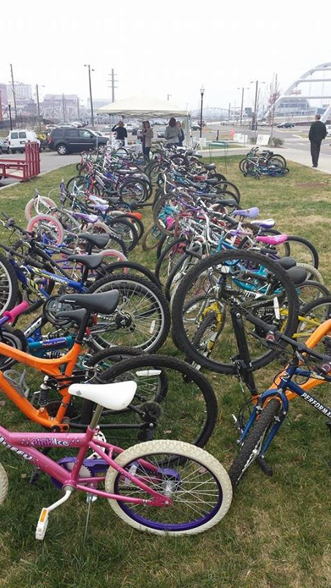 Look at all these bikes that will get a second life, thanks to YOU, Nashville!