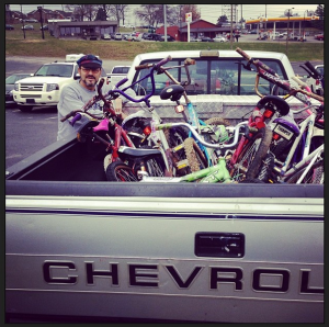 This donor brought by a whole truckload of bikes!