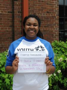 """I serve because I know I can make a difference in someone's life."" - Isabel Johnson-Ban"