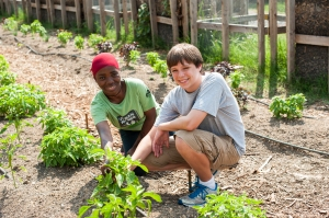 Image of Youth serving at the Hands On Nashville Urban Farm!