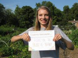 """""""I serve because I believe in the power of youth!"""" - Grace Bryant, HON Urban Agriculture Intern"""