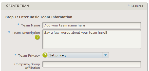 Image of Creating a Team Page at HON.org