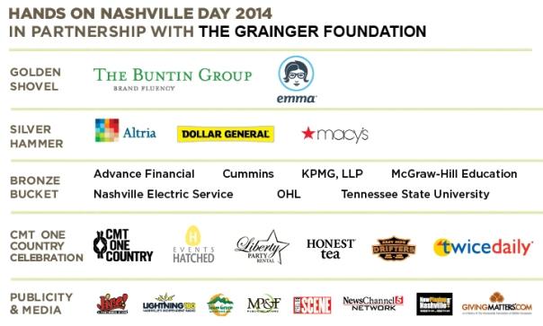 Hands On Nashville Day 2014 Sponsors