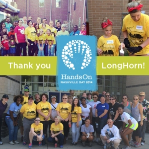 LongHorn Employees volunteered at 5 different Hands On Nashville Day 2014 schools. Thank you for your support!