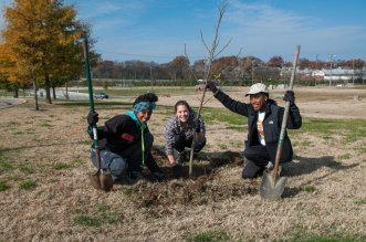 On Saturday, November 15, more than 25 outstanding community volunteers spent their morning planting 90 trees in East Nashville to support Nashville's urban forest!