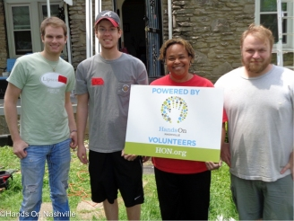 Ms. Brooks and Hands On Nashville Volunteers