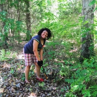 Sarah Cannon volunteers cleared invasive species from trails at Percy Priest Lake on June 16, 2016.