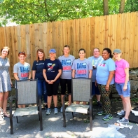 Sarah Cannon volunteers supported Youth Villages on June 16, 2016.