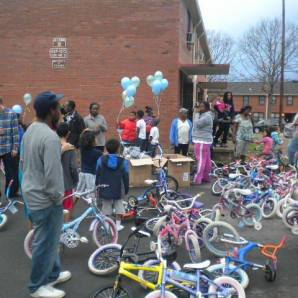 A look back at a 2013 Bike Giveaway that Hands On Nashville supported E.B.C.